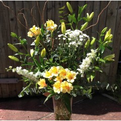 sweet fragrant basket arrangement