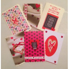 hand made valentines gift card - small
