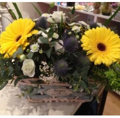 mum's flower basket