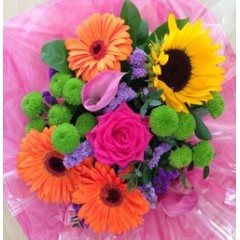 luxe design of the week - rainbow posy