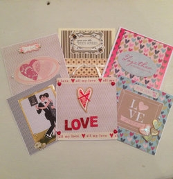 Hand Made Valentines Gift Card - Large
