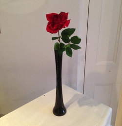 Single Rose in a Bud Vase